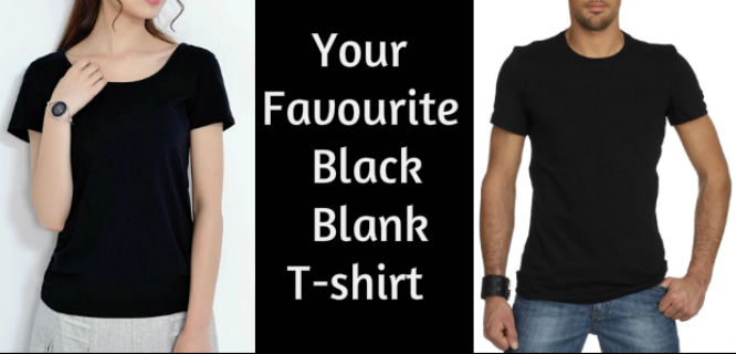 Black Blank T-shirts Manufacturers