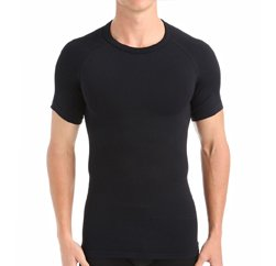 Pure Black seamless Men's t- shirt Suppliers