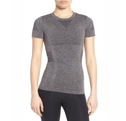 Soft Grey Women's seamless t shirt Manufacturers