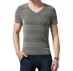 Soft Grey shaded Men's seamless t shirt Manufacturers