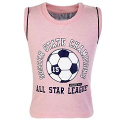 All Star League Pearl Pink Sleeveless T Shirt Suppliers
