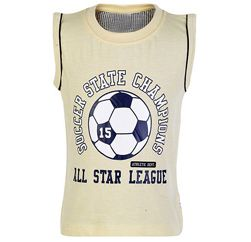All Star League Pearl White Sleeveless T Shirt Suppliers