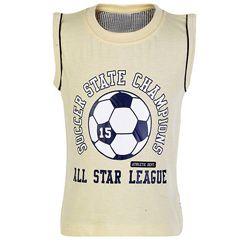 All Star League Pearl White Sleeveless T Shirt Suppliers