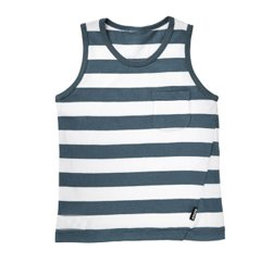 Aspiring Blue And White Tank Tee Wholesale