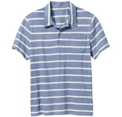 Baby Blue Striped Polo T Shirt Suppliers