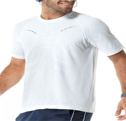 Basic Solid White Sports Seamless Tee Suppliers