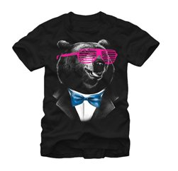 Beary Funny T shirt in Black Suppliers