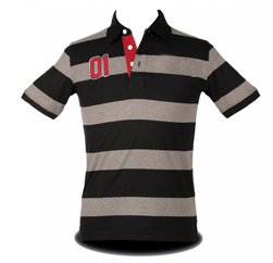 Black and Grey Sporty Polo Manufacturers