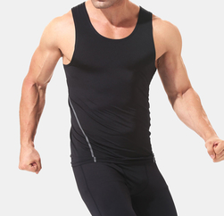 Wholesale Mooring Black Sleeveless Dry Fit T Shirt