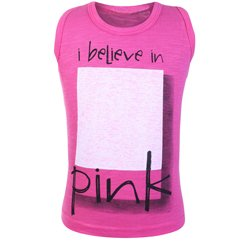 Candy Pink Sleeveless T Shirt