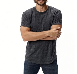 Wholesale Charcoal Grey Dry Fit T Shirt