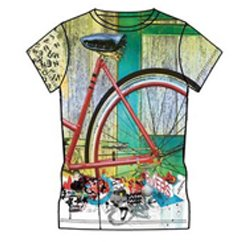 Cyclotron Print White Custom T Shirt Suppliers