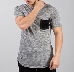 Wholesale Flannel Grey Dry Fit T Shirt