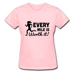Flossy Pink Every Mile Running T Shirt Suppliers