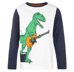 Funky Dinosaur-The-Guitarist Kids' Tee Manufacturer
