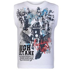 High Octane Sleeveless T Shirt In White Manufacturers