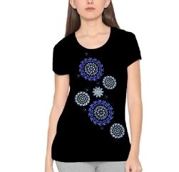 indiana blue and black print tshirt wholesale