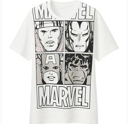 marvel comics graphic tee in white
