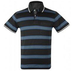Multi Striped Black Polo T-Shirt Suppliers