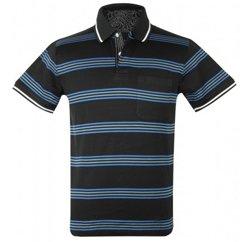 Multi Striped Black Polo T-Shirt Suppliers