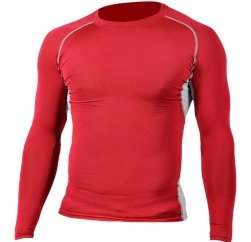 Red Contoured compressed T-shirt Manufacturers