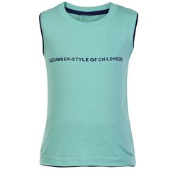 Sea Green Sleeveless T shirt Suppliers