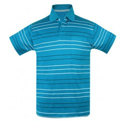 Shades Of Blue Thin Stripes Polo Shirt Suppliers