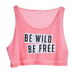 Sheer Pink Be-Wild-Be-Free Crop Top Manufacturers