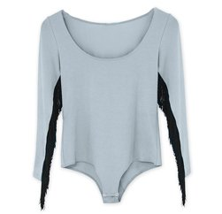Soft Grey Full Sleeve Girls' Tee Suppliers