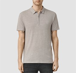 Soft Tinge Greyish Brown Polo T-shirt