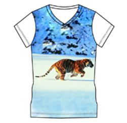 Tiger Sprinter White Custom T Shirt Manufacturers