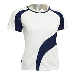 White And Blue Sway Panel T Shirt Suppliers