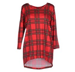 Wholesale Bold Red Checked Jersey Dress In USA, UK and Australia