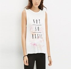 Feminine Graphic Printed Tee in White